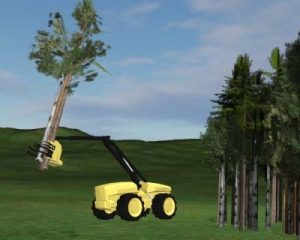 Visual simulation of machine concepts for forest biomass harvesting