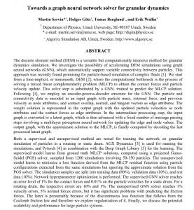 Towards a graph neural network solver for granular dynamics