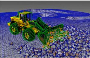 Fast and stable simulation of granular matter and machines
