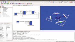 Development of a multi-copter simulator and a projection system for virtual operation experience