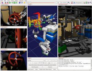 Developing semi-autonomous humanoid robots that perform various composite tasks via a task sequencer and dynamics simulator
