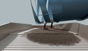 Outlet design optimization based on large-scale nonsmooth DEM simulation