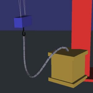 Rigid body cable for virtual environments